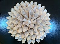 Paper wall flower - needs small cones - Stein Your Florist Co.