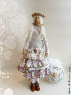 Tilda bonecas artesanais.  Mestres justo - estilo boneca artesanal til Miranda.  Handmade.