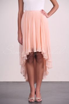 Asymmetrical Chiffon Skirt With Pleating #Bottoms  #Separates  #SimplyBridal