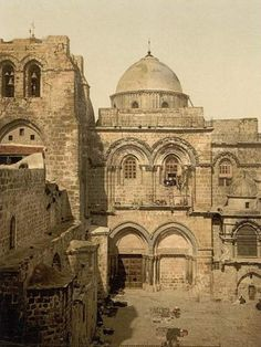 Ancient photo of The Church of the Holy Sepulchre