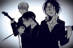 Mike, Levi, and Hanji // AoT