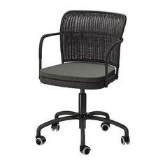 ikea swivel office chair. IKEA GREGOR Swivel Chair Black/svanby Grey You Sit Comfortably Since The Is Adjustable In Height. Ikea Office