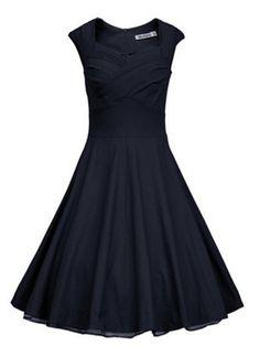 50 s e 60 s mulheres Plus Size estilo Audrey Hepburn 1950 s Rockabilly balanço vestido de festa em Vestidos de Roupas e Acessórios no AliExpress.com | Alibaba Group