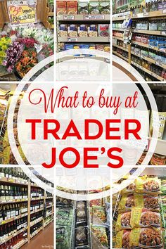Tops picks for what to buy at Trader Joe's. A fun shopping guide to Trader Joe's-- from food to flowers to wine!