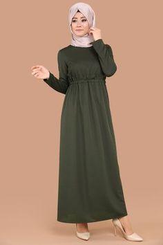 Bağcık Kemerli Elbise LRJ6113 Haki The Dress, High Neck Dress, Dresses, Fashion, Turtleneck Dress, Vestidos, Moda, Fashion Styles, Fasion