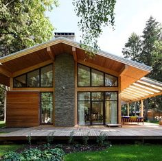 Exterior De Casas Contemporaneas Ideas For 2019 Roof Design, Exterior Design, House Design, House Front, My House, Craftsman Dining Room, Modern Wooden House, Simple Shed, Outdoor Sheds