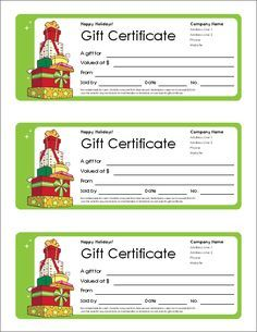 Personalized Gift Certificates Template Free Free Holiday Gift Certificates Templates To Print  Gift .