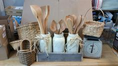 I'm making displays for my wood spoons and getting ready for craft shows!