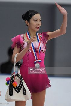 News Photo : Marin Honda of Japan waves for fans after the...