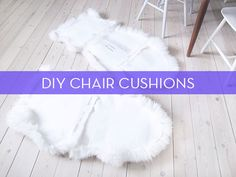 DIY faux fur dining chair covers