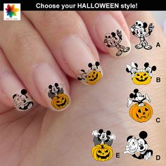 Halloween Disney nail art cartoon childrens by Nailsgraphicworld, $6.90