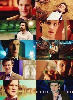 Matt Smith as the Doctor.<-- no. Matt Smith IS the Doctor. No one can tell me differently. I can't handle it.