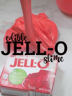Jell-O Slime! An Edible Taste-Safe DIY Jello Slime Recipe - No glue or borax - just simple ingredients found in the kitchen. : Jell-O Slime! An Edible Taste-Safe DIY Jello Slime Recipe - No glue or borax - just simple ingredients found in the kitchen. Fun Crafts For Kids, Summer Crafts, Projects For Kids, Diy For Kids, Fun Kids Games, Fun Art Projects, Preschool Halloween Crafts, Make Slime For Kids, Crafts Toddlers