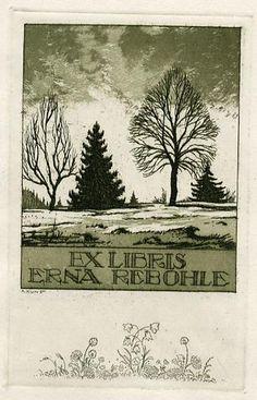 Ex libris by Adolf Kunst
