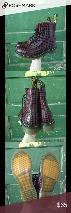 Dr. Martens 1460 Houndstooth Boots Brand new without box.  Never been worn.  Perfect condition. Dr. Martens Shoes Combat & Moto Boots