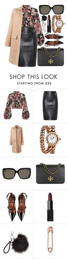 """Work Day"" by monmondefou ❤ liked on Polyvore featuring Jill Stuart, Moschino, Rochas, Bulgari, Gucci, Tory Burch, RED Valentino, NARS Cosmetics, black and beige"