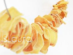#Chips, #Diy, #RecycledNecklaces Necklace made of baked potatoes. The potatoes were perforated and lacquered for long life.    ++ More information at http://islaura.it/ website ! Idea sent by laura siri !