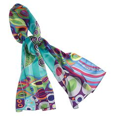 Fun and fresh silk FreyWille scarf for a playful Ms Dolphin. What's your Dare Devil Persona? Take the quiz www.DareOutLoud.com