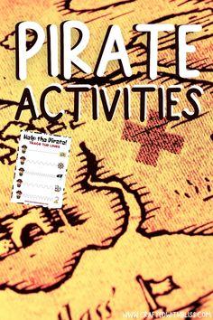 Pirate Games For Kids, Pirate Activities, Color Activities, Activities For Kids, Dnealian Handwriting, Handwriting Worksheet Maker, Kindergarten Handwriting, Tracing Worksheets, Preschool Worksheets