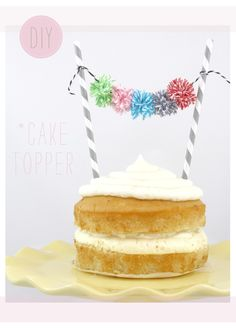 mini pom pons de barbantes listrados #bakers #twine