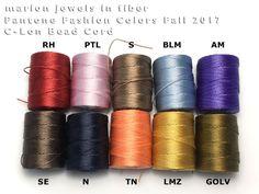 C-Lon Bead Cord Colors/Pantone Colors Fall 2017 - London