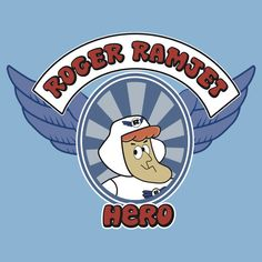 """""""Roger Ramjet and his Eagles Fighting for our freedom Fly through and in outer space Not to join him but to beat him.   Roger Ramjet he's our man Hero of our nation For his adventure just be sure And stay tuned to this station.   Come and join us all you kids For lots of fun and laughter As Roger Ramjet and his men Get all the crooks they're after.   Roger Ramjet he's our man Hero of our nation For his adventure just be sure And stay tuned to this station."""""""