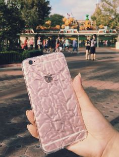 Enjoying the Halloween Decorations at Disneyland. Clear Crystalline case with the Rose Gold iPhone 6s