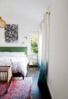 bedroom with bassinet // sarah sherman samuel