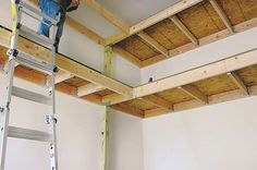 Decoration: making garage shelves attractive ana white easy economical shelving from diy projects pertaining Small Garage Organization, Garage Storage Shelves, Garage Shelf, Diy Wall Shelves, Organizing, Organization Ideas, Workshop Organization, Wall Storage, Hanging Garage Shelves