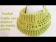 En este nuevo post los invito a tejer un simpático cuello con elástico de medio puntos a crochet que tejeremos sin necesidad de costuras. Knit Crochet, Crochet Hats, Crochet Ideas, Neck Warmer, Cowl Neck, Scarf Wrap, Knitting, Crafts, Erika
