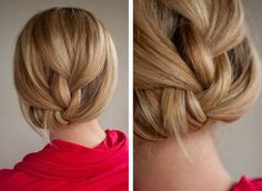 I always do the french with a tucked tail, but when my hair gets longer I will try this!