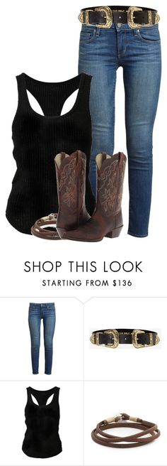 """""""Jo Harvelle"""" by inspiredoutfitsfandoms ❤ liked on Polyvore featuring Paige Denim, B-Low the Belt, The Elder Statesman, Caputo & Co. and Ariat"""