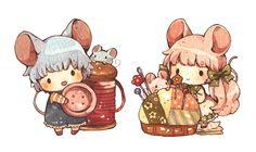 ねずみの姉弟 by もかろーる   CREATORS BANK http://creatorsbank.com/mokarooru/works/310735