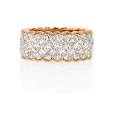 Eternity Bands | Simon G Diamond Antique 18k Two Tone Gold Eternity Wedding Band Ring