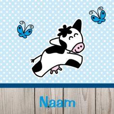 Hippe geboortekaartjes   koe