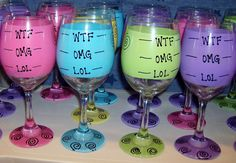 Hey, I found this really awesome Etsy listing at… Funny Wine Glasses, Hand Painted Wine Glasses, Wine And Beer, Wtf Funny, Paint Designs, Sell On Etsy, Cool Things To Buy, Alcohol, Lol