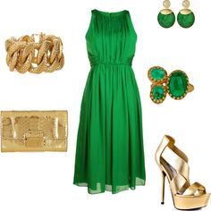Perfect date outfit for me-- Green is SO my color!