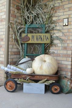 If you are looking for Fall Porch Farmhouse Style, You come to the right place. Below are the Fall Porch Farmhouse Style. This post about Fall Porch Farmhou. Thanksgiving Decorations, Seasonal Decor, Holiday Decor, Fall Porch Decorations, Autumn Decorating, Porch Decorating, Pumpkin Decorating, Fall Outdoor Decorating, Fall Decor Outdoor
