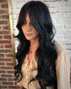 Layered Haircuts With Bangs, Long Hair With Bangs, Long Black Hair, Haircuts For Long Hair, Long Curly Hair, Long Hair Cuts, Hairstyles With Bangs, Long Layered Hair Wavy, Layered Hairstyles