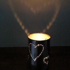 DIY Lanterns Made From Tin Cans