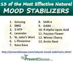 13 of The Most Effective Mood Stabilizers in Natural Medicine,,for those of us who are hormonal challenged
