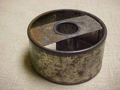 Vintage 1920s Tin Metal Cake Donut Doughnut Cutter Mold Hand Held