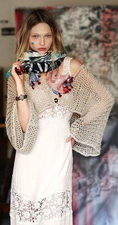 Great crochet shrug inspiration - Free People