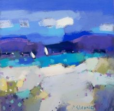 'Turquoise Bay, Isle of Harris' by Pam Glennie...Scottish Seascape in Pastel