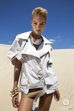 Candice Swanepoel desert shoot for Vogue