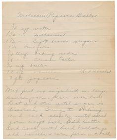 Handwritten Recipes: Molasses Popcorn Balls