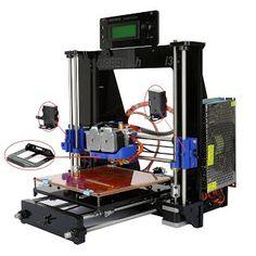"""Features & Benefits"" Iglobalbuy Geeetech Reprap Prusa i3 Pro C 3D Printer Dual Extruder MK8 DIY MK2A Heatbed"