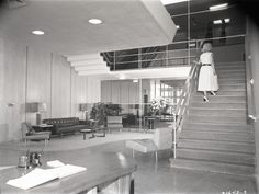 Modern Interiors  c. 1955 Vernor's Ginger Ale Plant | Detroit, Michigan  After being bought out by United Brands, the plant was shuttered in 1985. The site is now occupied by Studio One Apartments