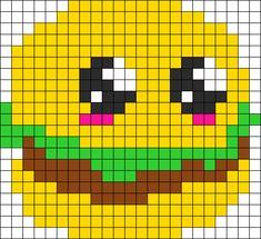 Burger Perler Bead Pattern / Bead Sprite