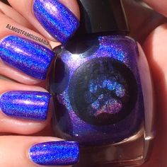 Almost Famous Nails: Bear Pawlish - Maleficent #blue/purple
